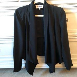 Black draped front blazer